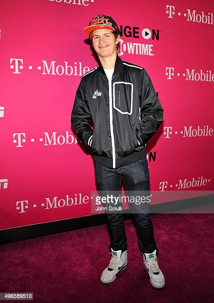 Actor Ansel Elgort attends TMobile Uncarrier X Launch Celebration at The Shrine Auditorium on November 10 2015 in Los Angeles California