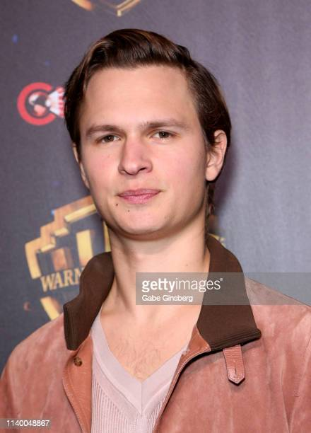 Actor Ansel Elgort attends Warner Bros Pictures The Big Picture exclusive presentation during CinemaCon at The Colosseum at Caesars Palace on April...