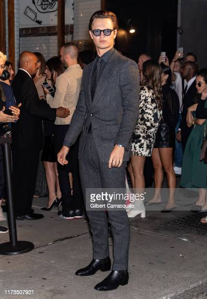 Actor Ansel Elgort is seen arriving to Tom Ford fashion show during New York Fashion Week on September 09, 2019 in New York City.