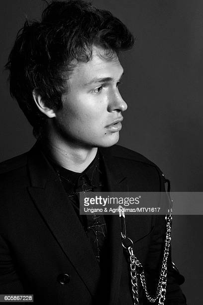 Actor Ansel Elgort poses for a portrait at the 2016 MTV Video Music Awards at Madison Square Garden on August 28 2016 in New York City