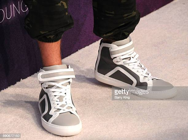 Actor Ansel Elgort, shoe detail, attends Variety's Power of Young Hollywood event, presented by Pixhug, with Platinum Sponsor Vince Camuto at...