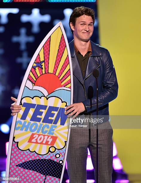Actor Ansel Elgort winner of Best Actor Drama onstage during FOX's 2014 Teen Choice Awards at The Shrine Auditorium on August 10 2014 in Los Angeles...