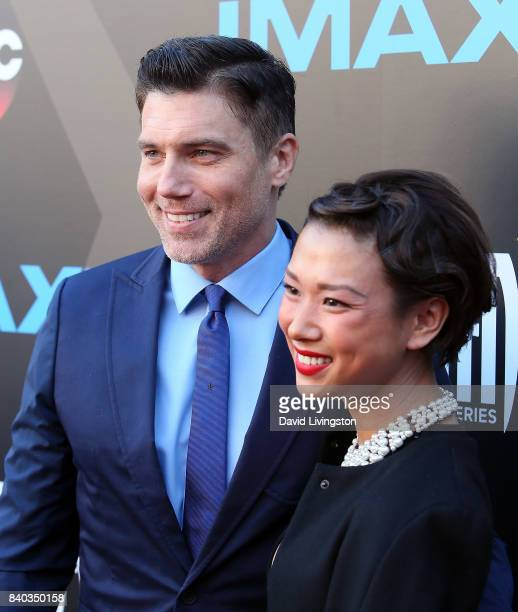 Actor Anson Mount and Darah Trang attend the premiere of ABC and Marvel's Inhumans at Universal CityWalk on August 28 2017 in Universal City...