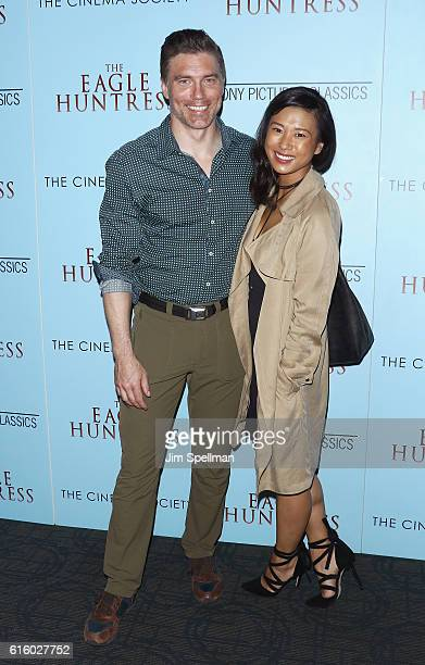Actor Anson Mount and Darah Trang attend the Screening of The Eagle Huntress hosted by Sony Pictures Classics and The Cinema Society at Landmark...