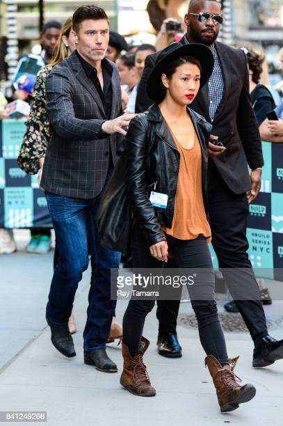 Actor Anson Mount and Darah Trang leave the AOL Build taping at the AOL Studios on August 31 2017 in New York City