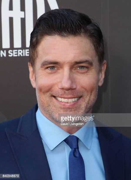 Actor Anson Mount attends the premiere of ABC and Marvel's 'Inhumans' at Universal CityWalk on August 28 2017 in Universal City California