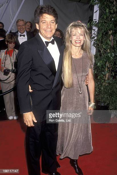 Actor Anson Williams and wife Jackie Gerken attend the 1993 American Television Awards on May 23 1993 at The Barker Hangar at The Santa Monica Air...