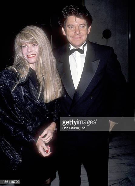 Actor Anson Williams and wife Jackie Gerken attend The National Conference of Christians and Jews Gala Honoring Robert Wright on October 16 1989 at...