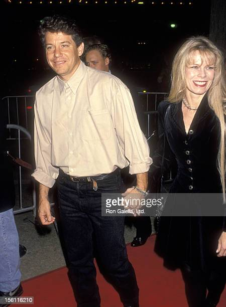 Actor Anson Williams and wife Jackie Gerken attend 'The Paper' Century City Premiere on March 16 1994 at Cineplex Odeon Century Plaza Cinemas in...