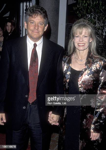 Actor Anson Williams and wife Jackie Gerken attend the Series Finale WrapUp Party for 'Melrose Place' on March 25 1999 at The Century Club in Century...