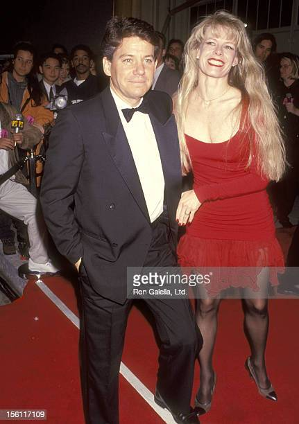 Actor Anson Williams and wife Jackie Gerken attend the Seventh Annual American Comedy Awards on February 28 1993 at Shrine Exposition Center in Los...