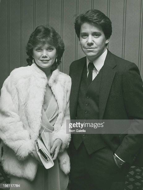 Actor Anson Williams and wife Lorrie Mahaffey attending Fourth Annual Media Awards on February 4 1982 at the Century Plaza Hotel in Century City...