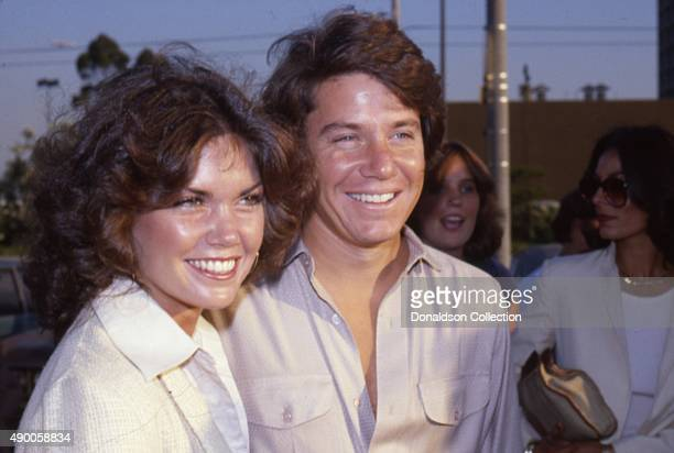 Actor Anson Williams from the TV show Happy Days attends an event with his wife Lorrie Mahaffey in 1980 in Los Angeles California