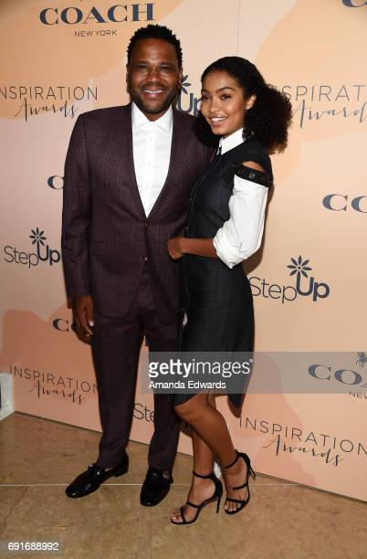 Actor Anthony Anderson and actress Yara Shahidi arrive at the 14th Annual Inspiration Awards at The Beverly Hilton Hotel on June 2 2017 in Beverly...