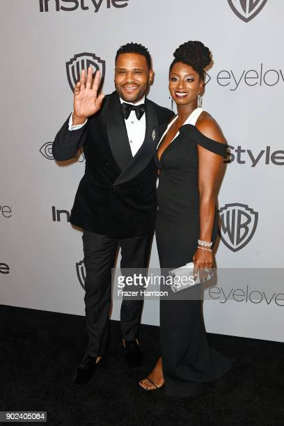 Actor Anthony Anderson and Alvina Stewart attend the 19th Annual PostGolden Globes Party hosted by Warner Bros Pictures and InStyle at The Beverly...