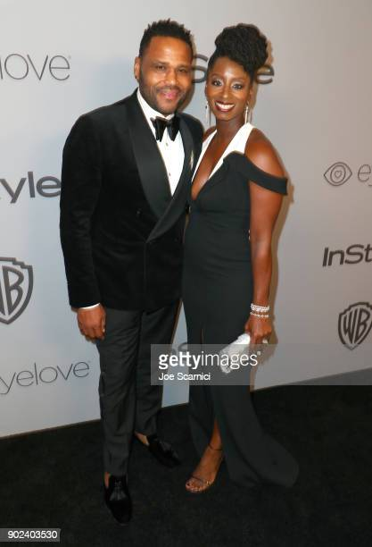 Actor Anthony Anderson and Alvina Stewart attend the 2018 InStyle and Warner Bros 75th Annual Golden Globe Awards PostParty at The Beverly Hilton...