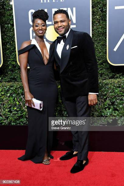Actor Anthony Anderson and Alvina Stewart attend The 75th Annual Golden Globe Awards at The Beverly Hilton Hotel on January 7 2018 in Beverly Hills...