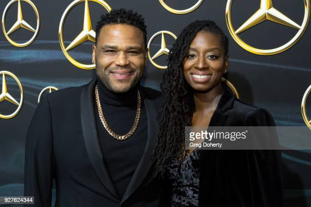 Actor Anthony Anderson and Alvina Stewart attend the MercedezBenz USA's Official Awards Viewing Party at Four Seasons Hotel Los Angeles at Beverly...