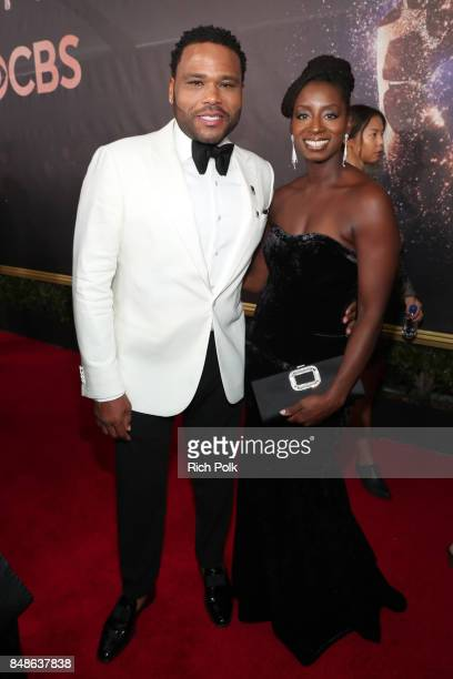 Actor Anthony Anderson and Alvina Stewart walk the red carpet during the 69th Annual Primetime Emmy Awards at Microsoft Theater on September 17 2017...