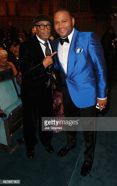 Actor Anthony Anderson and director Spike Lee attend the 46th NAACP Image Awards presented by TV One at Pasadena Civic Auditorium on February 6 2015...