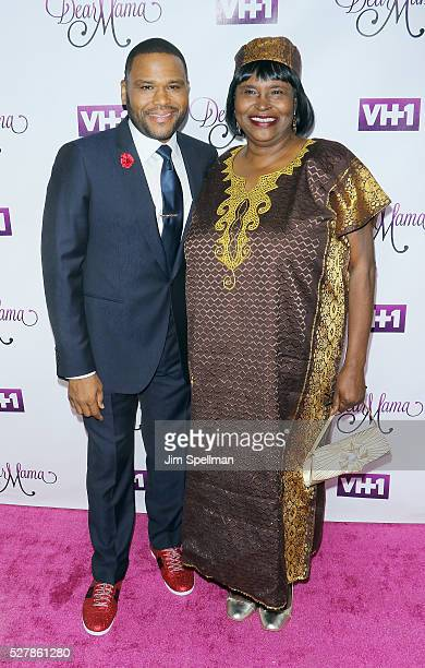 Actor Anthony Anderson and his mother Doris Hancox attend the VH1's 'Dear Mama' taping at St Bartholomew's Church on May 2 2016 in New York City