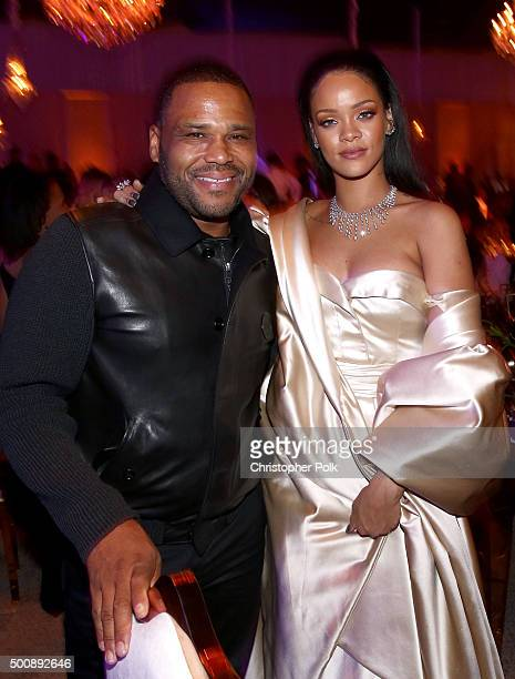 Actor Anthony Anderson and recording artist Rihanna attend the 2nd Annual Diamond Ball hosted by Rihanna and The Clara Lionel Foundation at The...