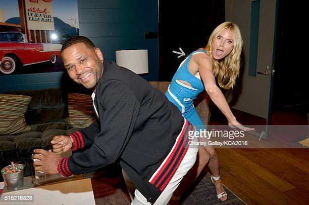 Actor Anthony Anderson and TV personality/model Heidi Klum attend Nickelodeon's 2016 Kids' Choice Awards at The Forum on March 12 2016 in Inglewood...