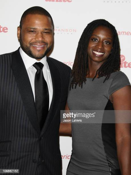 Actor Anthony Anderson and wife Alvina Anderson attend the Rock The Kasbah fundraising gala at Dorothy Chandler Pavilion on November 11 2010 in Los...