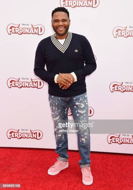 Actor Anthony Anderson arrives at a screening of 20th Century Fox's 'Ferdinand' at the Zanuck Theater at 20th Century Fox Lot on December 10 2017 in...