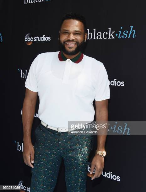 Actor Anthony Anderson arrives at the FYC Event for ABC's 'Blackish' at Walt Disney Studios on April 28 2018 in Burbank California