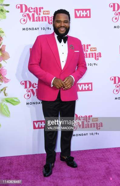 US actor Anthony Anderson arrives fo VH1s Annual Mothers Day Celebration Dear Mama A Love Letter to Mom at The Theatre at Ace hotel in Los Angeles on...