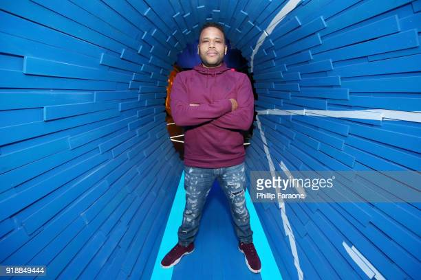 Actor Anthony Anderson at the American Express Fan Experience at NBA AllStar Weekend 2018 on February 15 2018 in Los Angeles California