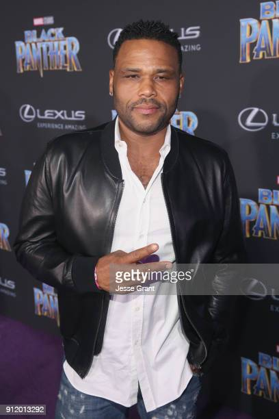 Actor Anthony Anderson at the Los Angeles World Premiere of Marvel Studios' BLACK PANTHER at Dolby Theatre on January 29 2018 in Hollywood California