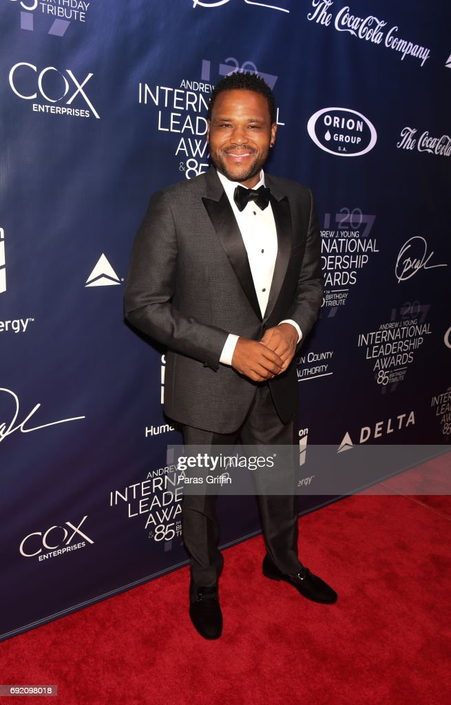 Actor Anthony Anderson attends the 2017 Andrew Young International Leadership Awards and 85th Birthday Tribute at Philips Arena on June 3, 2017 in Atlanta, Georgia.