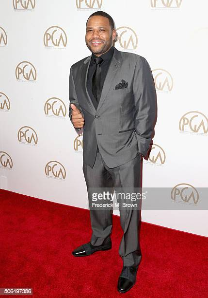 Actor Anthony Anderson attends the 27th Annual Producers Guild Of America Awards at the Hyatt Regency Century Plaza on January 23 2016 in Century...