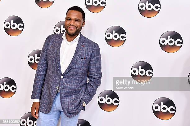Actor Anthony Anderson attends the Disney ABC Television Group TCA Summer Press Tour on August 4 2016 in Beverly Hills California