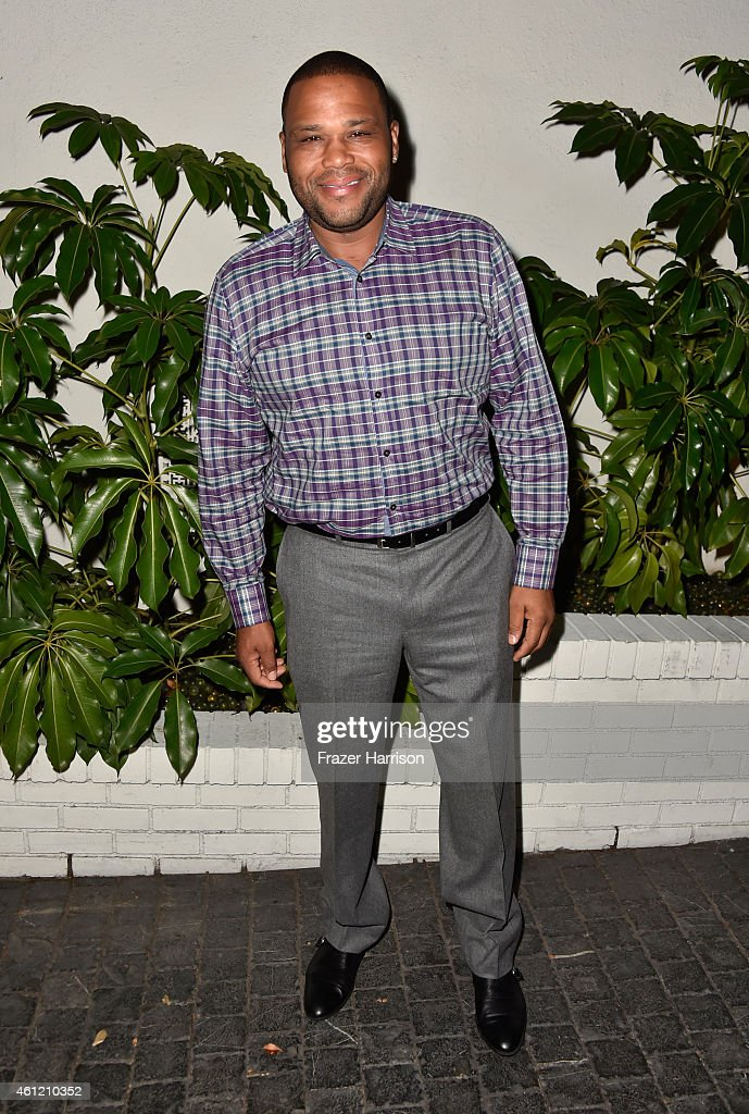Actor Anthony Anderson attends the W Magazine celebration of the 'Best Performances' Portfolio and The Golden Globes with Cadillac and Dom Perignon at Chateau Marmont on January 8, 2015 in Los Angeles, California.