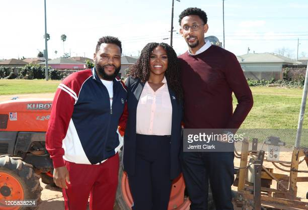 Actor Anthony Anderson, Compton Mayor Aja Brown and Former NBA Player Josh Childress attend The Los Angeles Dodgers Foundation, Kershaw's Challenge...