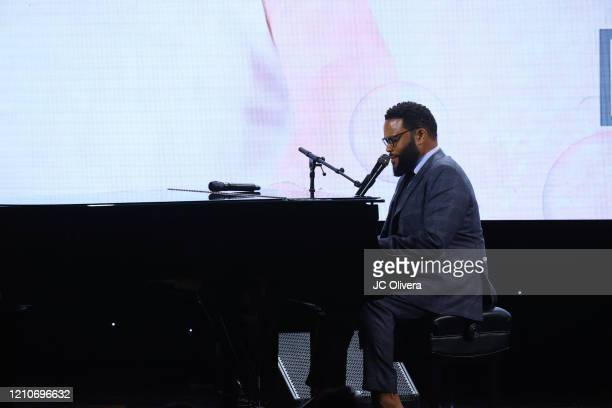 Actor Anthony Anderson performs onstage during The Alliance For Children's Rights 28th Annual Dinner Honoring Karey Burke And Susan Saltz at The...