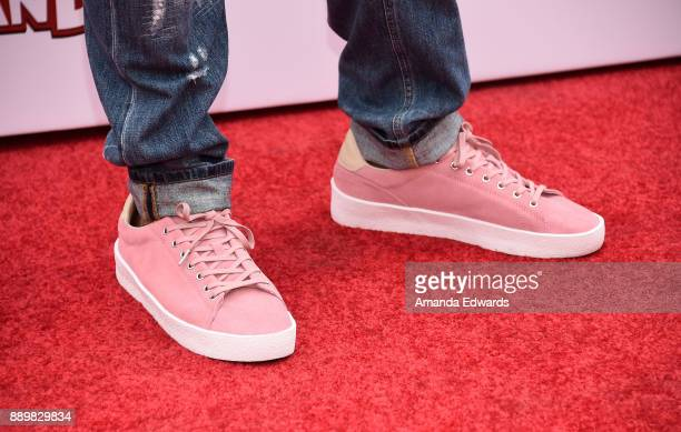 Actor Anthony Anderson shoe detail arrives at a screening of 20th Century Fox's 'Ferdinand' at the Zanuck Theater at 20th Century Fox Lot on December...