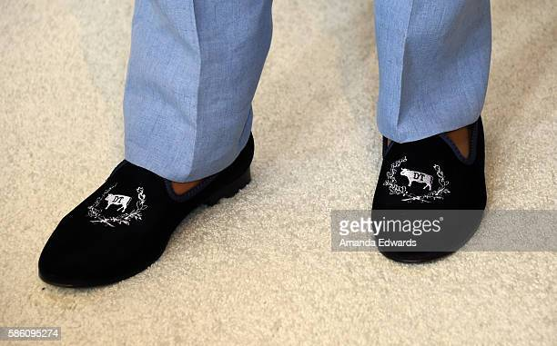 Actor Anthony Anderson, shoe detail, attends the Disney ABC Television Group TCA Summer Press Tour on August 4, 2016 in Beverly Hills, California.