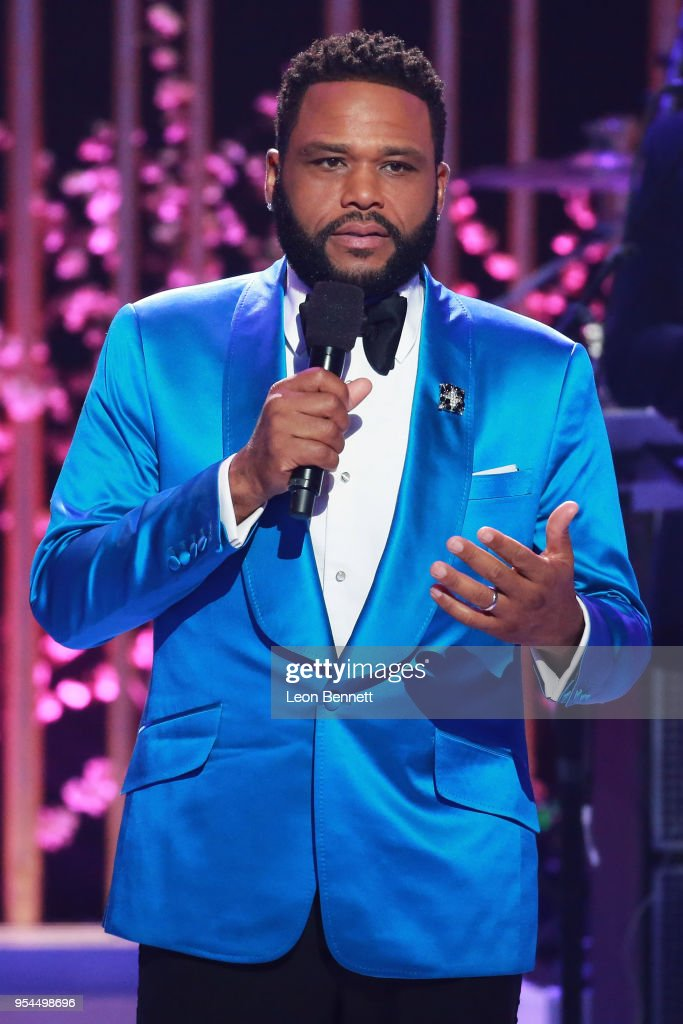 Actor Anthony Anderson speaks onstage during VH1's 3rd Annual 'Dear Mama: A Love Letter To Moms' - Inside Show at The Theatre at Ace Hotel on May 3, 2018 in Los Angeles, California.