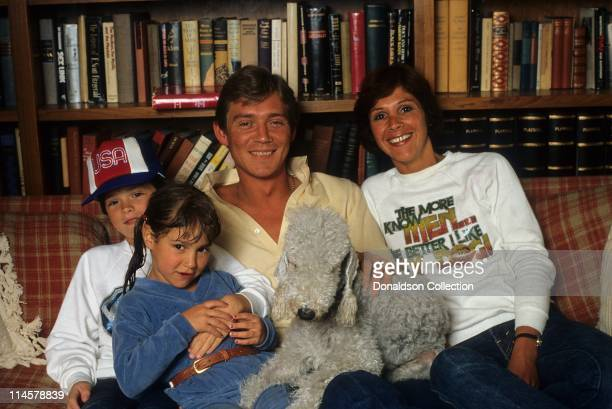 Actor Anthony Andrews and Family pose for a portrait in circa 1985 in Los Angeles California