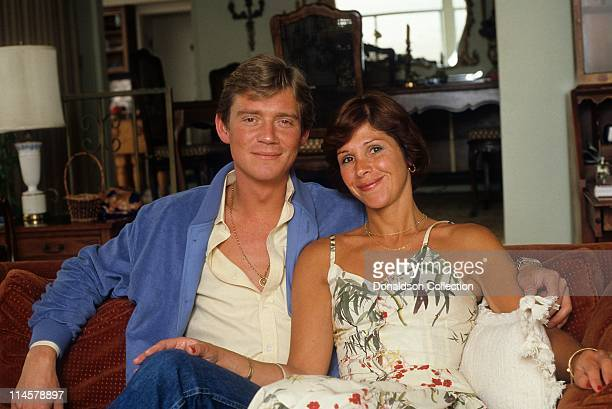 Actor Anthony Andrews and wife Georgiana pose for a portrait in circa 1985 in Los Angeles California