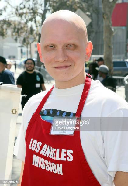 Actor Anthony Carrigan attends the Los Angeles Mission Easter charity event at the Los Angeles Mission on March 30 2018 in Los Angeles California