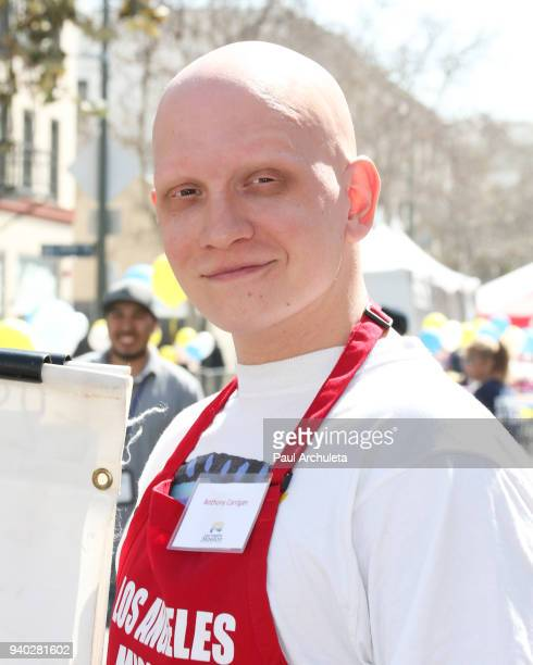 Actor Anthony Carrigan attends the Los Angeles Mission Easter Charity event at Los Angeles Mission on March 30 2018 in Los Angeles California