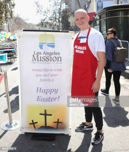 Actor Anthony Carrigan attends the Los Angeles Mission Easter Charity Event held at Los Angeles Mission on March 30 2018 in Los Angeles California