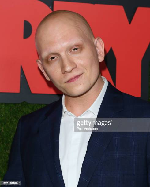 Actor Anthony Carrigan attends the premiere of HBO's 'Barry' at NeueHouse Hollywood on March 21 2018 in Los Angeles California