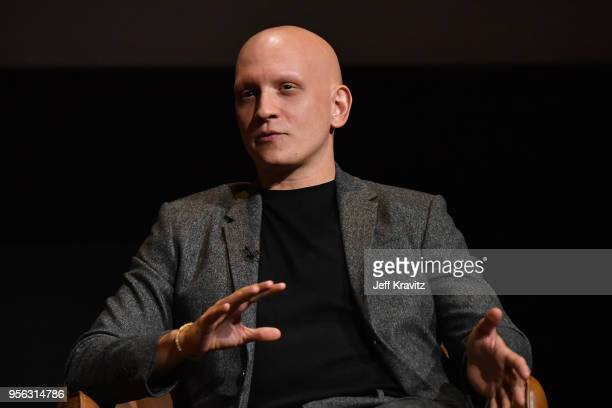 Actor Anthony Carrigan speaks onstage in a panel discussion for BARRY FYC at Wolf Theatre on May 8 2018 in North Hollywood California
