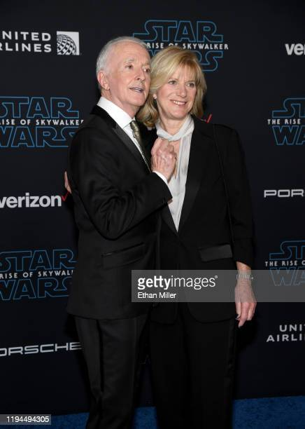 Actor Anthony Daniels and writer Christine Savage attend the premiere of Disney's Star Wars The Rise of Skywalker on December 16 2019 in Hollywood...